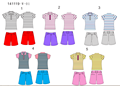 kinds' golf stripe polo shirts and shorts