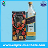 fruits printing black waterproof plastic pvc ice bottle bag for wine