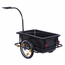 Quality bike cargo trailer with 42 Liters Poly Tray