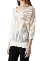 Hot sale women's sweater with front hem shorter than back