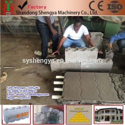 shengya brand low cost interlocking concrete blocks molds prices Email:brick27@sdshengya.com