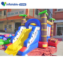 Inflatable small jumping bouncer castle, Inflatable palm tree jumping house with slide