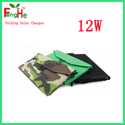 12w portable solar battery charger dual port 2 usb for mobile phone ,tablet,laptop