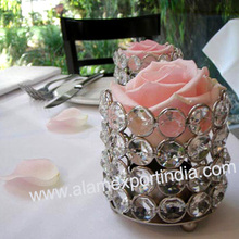 Small Crystal Beaded Table Votive