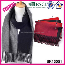 Thick Tassel Scarf Muffler Soild Color Long Scarf Shawl Men Knitted Wool Scarf