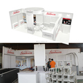 Detian Offer 10x20ft Aluminium Extrusion Standard Exhibition Booth for fair stand