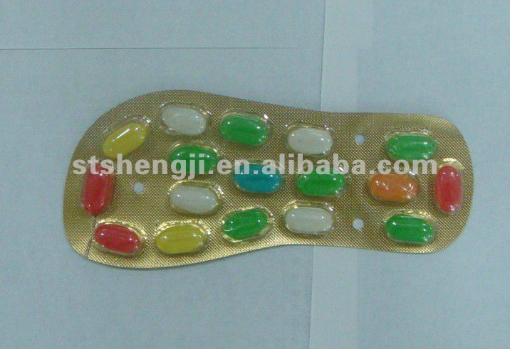 Road at the foot ----Bar pressed jelly beans in shape of slipper shaped bar)