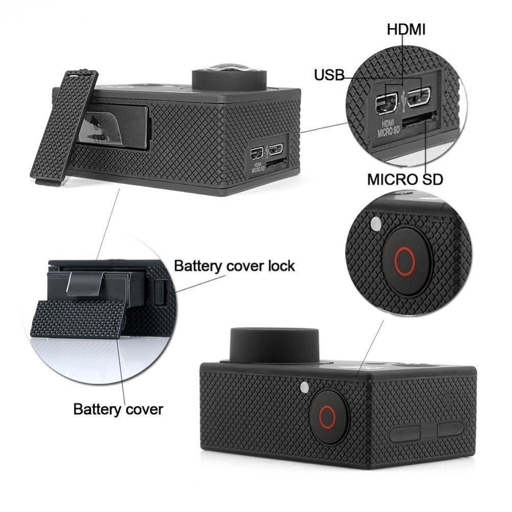 xiaomi yi similar action camera 4k 30fps 16MP best selling