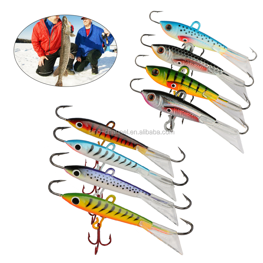 Minnow Hard Artificial Bait Pesca Carp Fishing Winter Ice Fishing Lure for Bass Walleye Trout Panfish and Pike