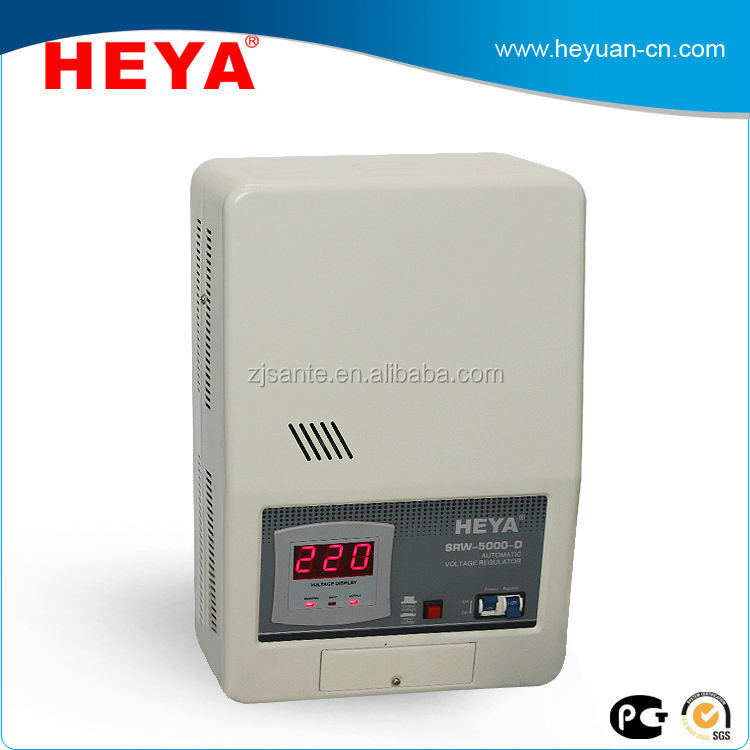 Portable wall mounted 5kw automaticrelay controll voltage stabilizers
