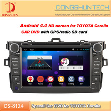 Factory price car 2 din dvd player for Toyota corolla