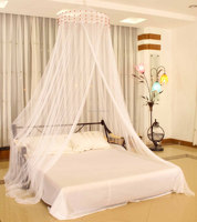 Adult fashion mosquito net bed canopy in mosquito netting
