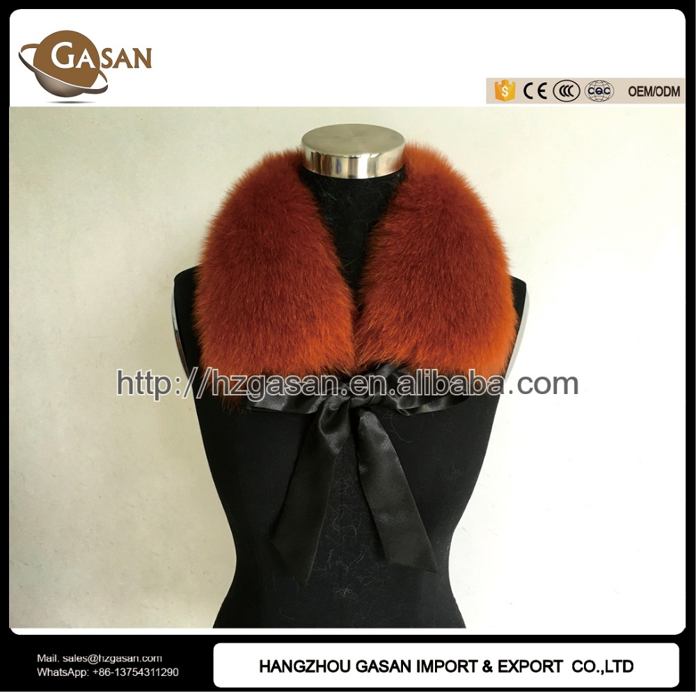 Real Fox Fur Neck Warmer With Bow Tie
