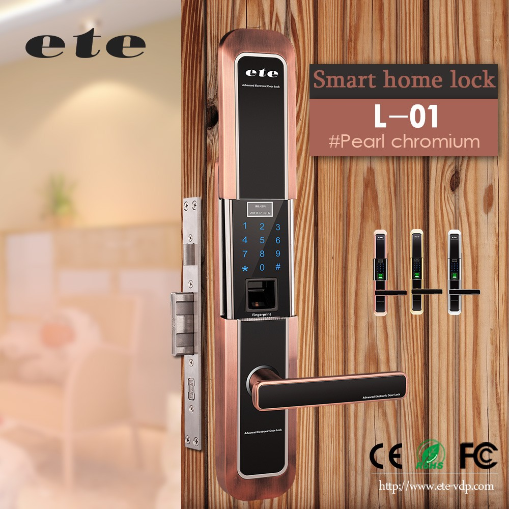 Ete home security wifi fingerprint door lock fingerprint for Reglage porte fenetre coulissante