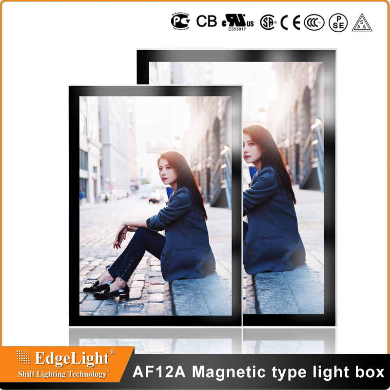 Edgelight AF9A aluminum frame <strong>double</strong> sided backlit <strong>light</strong> <strong>box</strong> design