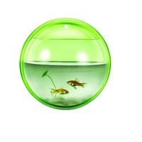 Plastic Acrylic Wall Mount Round Aquarium Fish Tank