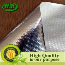 pe woven fabric laminated aluminum metalized film for pallet cover