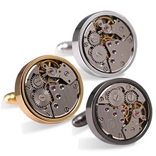 High Quality Lower Price Working Watch Cufflinks Metal Cufflinks Custom logo cufflinks