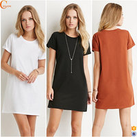 Plain Solid Color Woman Dress China
