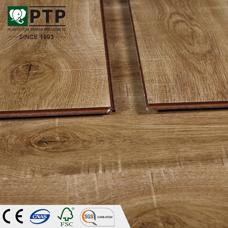 Gustave Durable Euro Click Natural Wood Touch Matt Oiled Laminate Flooring