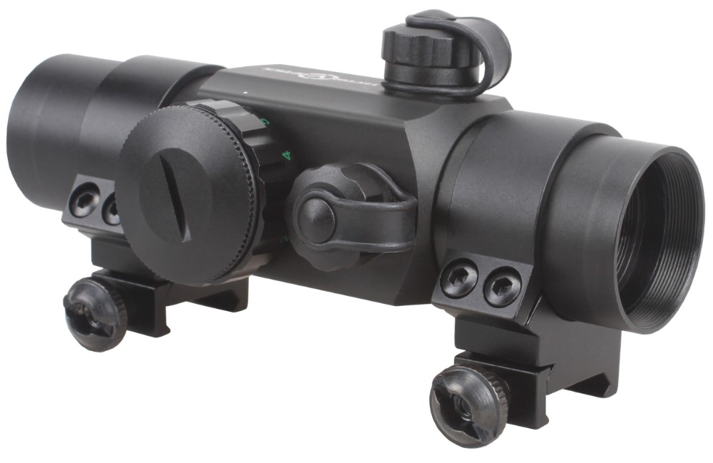 Vector Optics 1x30 Multi Reticle Red Green Dot Scope Sight w/ Flip-up Cap Rings
