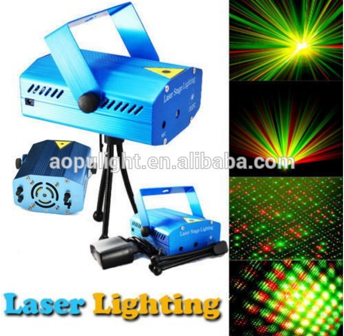 outdoor laser lighting 150mW red&green two color mini star animation laser disco lights