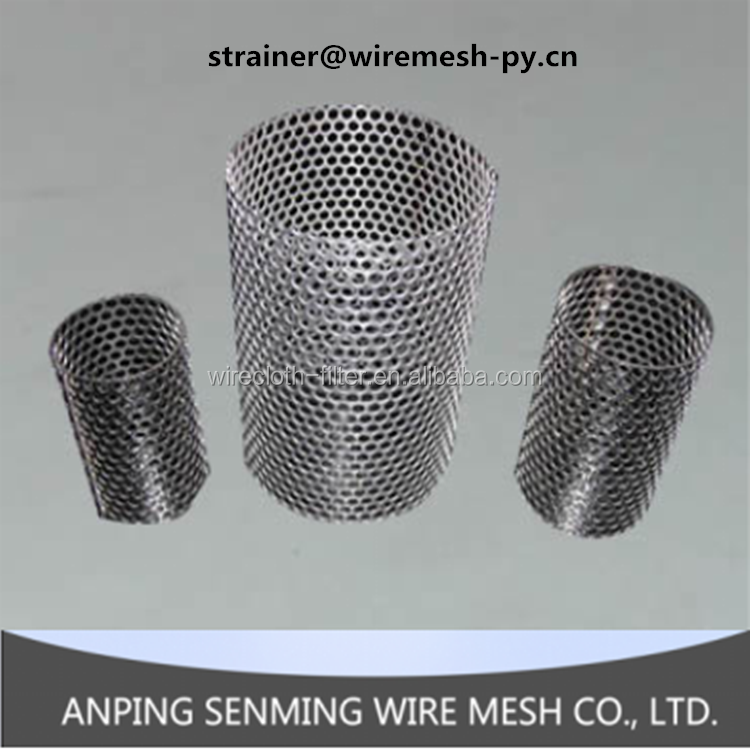 Good quality stainless steel wire mesh and metal mesh perforated filter tube/filter screen
