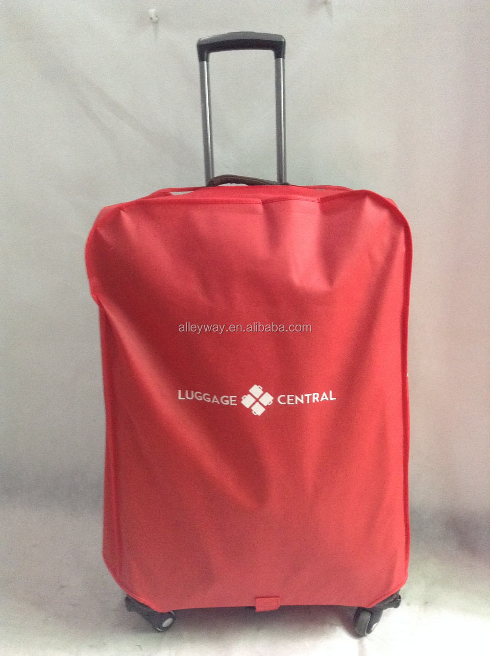 One side clear PVC non woven luggage cover 28""