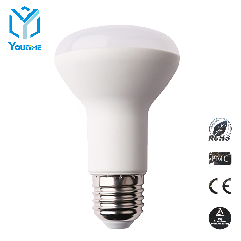 Factory Price 7W r63 LED Bulb conductive plastic sharp 2 Years Warranty e27 LED Bulb