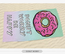 2015 3D digital printed 70*140 wholesaler donut print holiday beach towel
