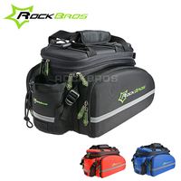 ROCKBROS Cycling Rear Saddle Pack Bicicleta Multi-function Bags 3 in 1 bicycle Rear Carrier Bag Rear Pack Trunk bike Pannier