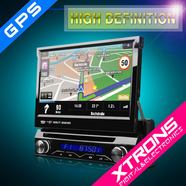 "7"" Single Din Touch Screen Car Audio with GPS detachable panel"