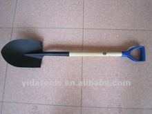 S518 shovel with stamped logo wood handle