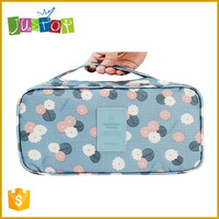 Justop New Floral Travel Underwear Organizer Bag Waterproof Bra Storage Bag Large