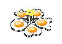 5PCS Fried Egg Mold Egg Ring Egg shaper SUS304 Stainless Steel Pancake Mold Kitchen Tool Pancake Rings