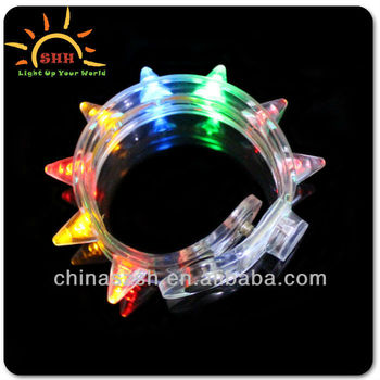 Halloween item light up cool LED slap bracelet for night