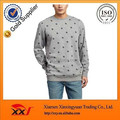 Rivet pattern punk style pullover cotton sweatshirts hoodied no hood