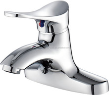 Deck Mounted Waterfall Bathroom Basin Faucet Vanity Sink Mixer Tap Single Handle