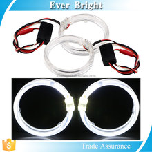EB 2x80MM 2LED Angel Eyes Headlight cr light led halo light Bulb Halo Ring Lamp Light 9-30V