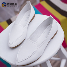3 colors optional latest design MOQ 1 women shoes flat lady shoe
