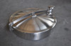 Sanitary stainless steel single beam normal pressure tank manhole