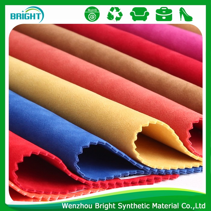 Suede leather raw material for shoe making, durable synthetic suede leather