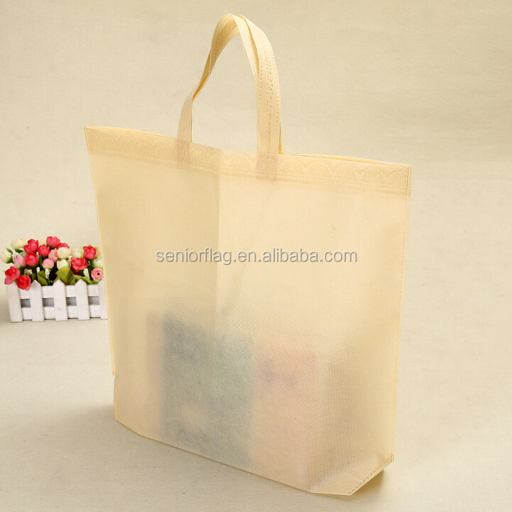 The most popular non woven tote bag printing logo for shopping
