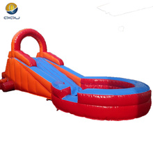 Qiqu factory customized short inflatable water slip and slide for kids