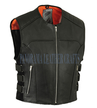motorcycle leather vest/ bikers leather vest