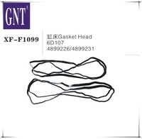 excavator Cylinder head gasket for 6D107