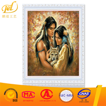 Yiwu Gold Supplier Modern Indian Couple Pattern Diy Oil Painting By Numbers on Canvas