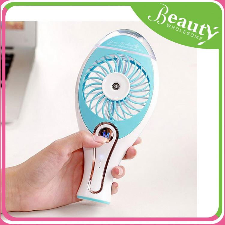Water spray fan bottle ,sw57 new products 2017 handle mini usb fan with spray water cooler rechargable 18650 battery