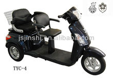 2 chairs 60v 350-500w 3 wheel electric tricycle