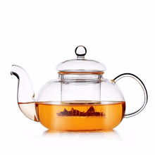 Superior quality handmade borosilicate 750ml Glass Teapot for wholesale